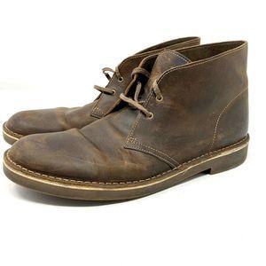 Clarks Dark Brown Leather Ankle Chukka Boots SZ 12